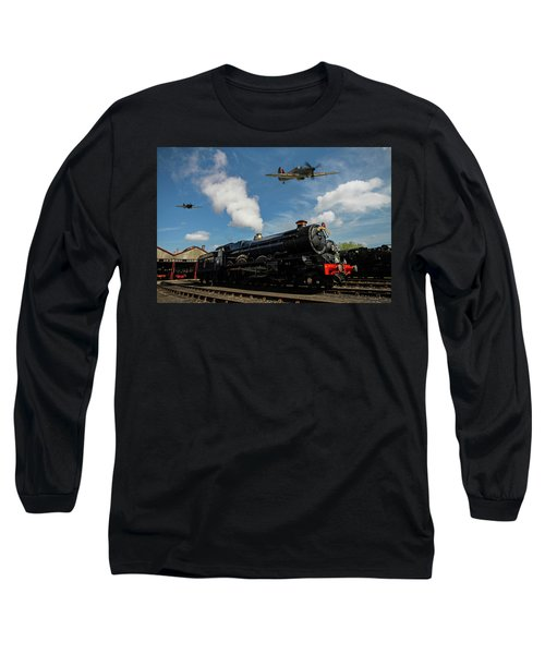 Hawker Hurricanes Beating Up A Goods Yard Long Sleeve T-Shirt