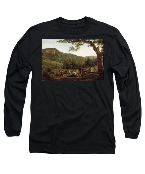 Haymakers Picnicking In A Field Long Sleeve T-Shirt