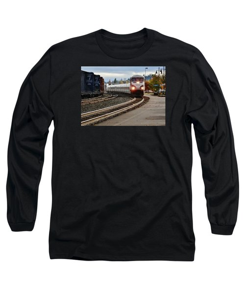 Heading For Portland Long Sleeve T-Shirt by VLee Watson