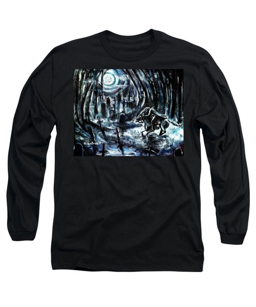 Long Sleeve T-Shirt featuring the painting Headless In The Hollow by Shana Rowe Jackson