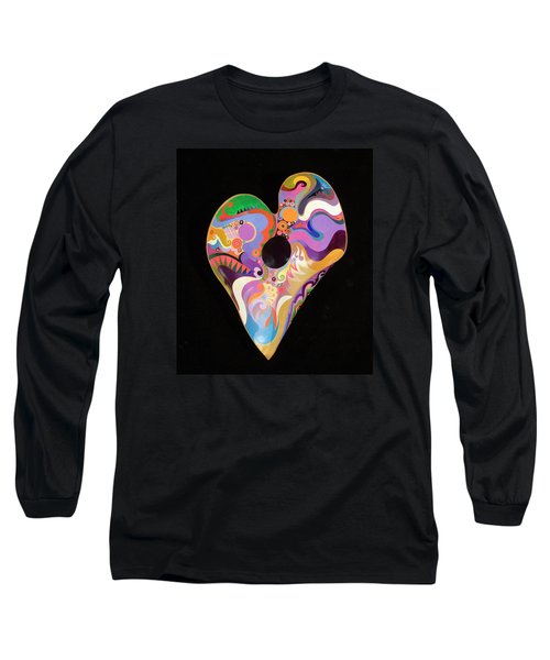 Long Sleeve T-Shirt featuring the painting Heart Bowl by Bob Coonts