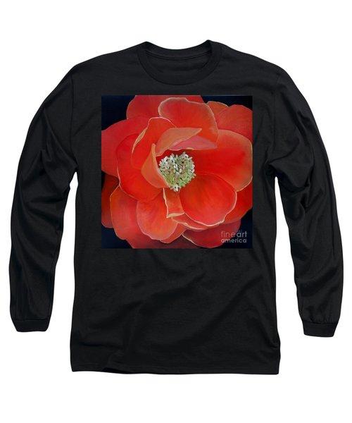 Heart-centered Rose Long Sleeve T-Shirt