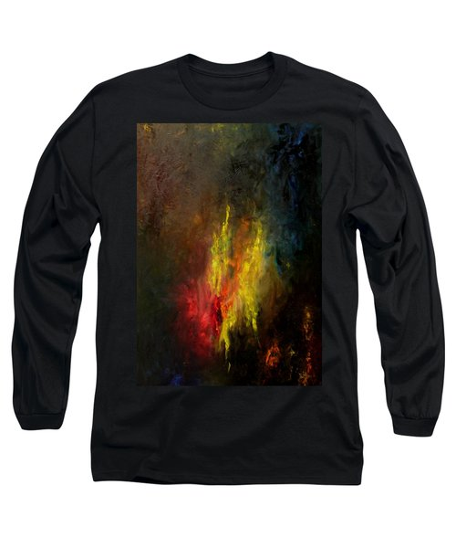 Long Sleeve T-Shirt featuring the painting Heart Of Art by Rushan Ruzaick