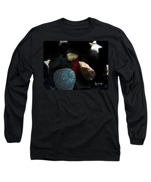 Heart Of Stone Long Sleeve T-Shirt by RC DeWinter
