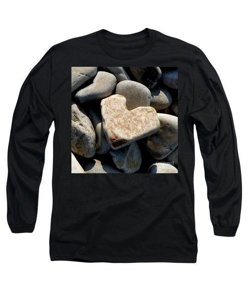 Long Sleeve T-Shirt featuring the photograph Heart Stone by Lainie Wrightson