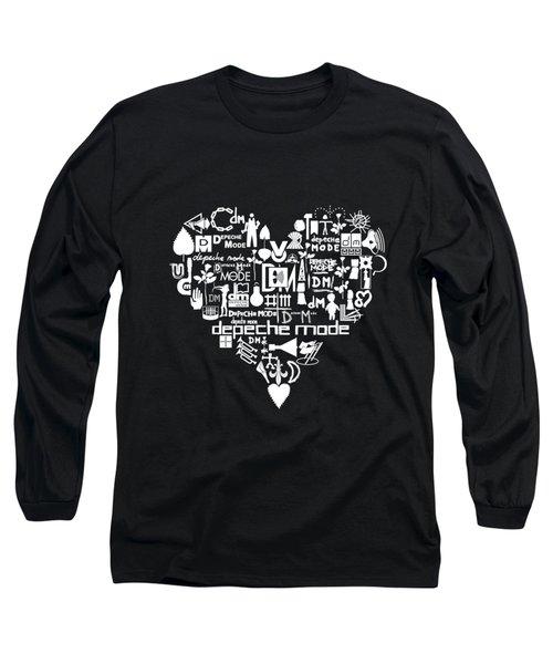 heart with DM logo Long Sleeve T-Shirt