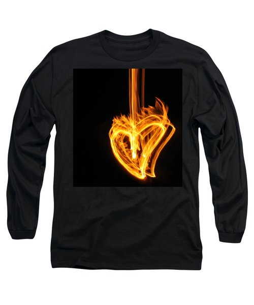 Hearts Aflame -falling In Love Long Sleeve T-Shirt