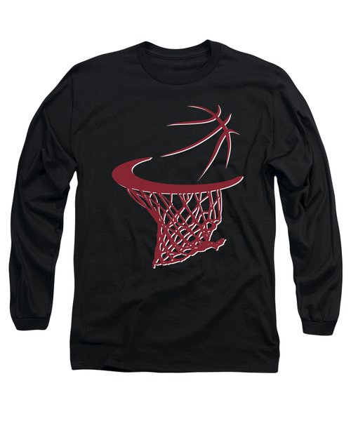 Heat Basketball Hoop Long Sleeve T-Shirt by Joe Hamilton