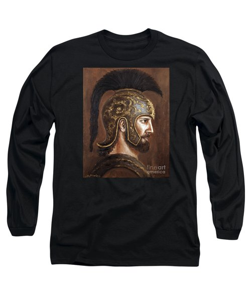 Long Sleeve T-Shirt featuring the painting Hector by Arturas Slapsys