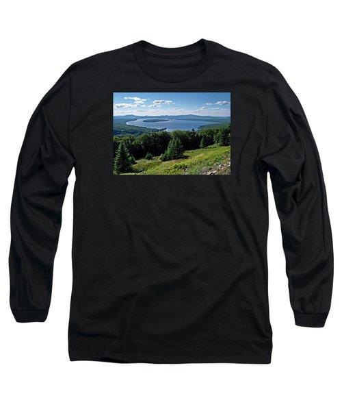 Height Of The Land Overlooking Mooselookmeguntic Lake Long Sleeve T-Shirt