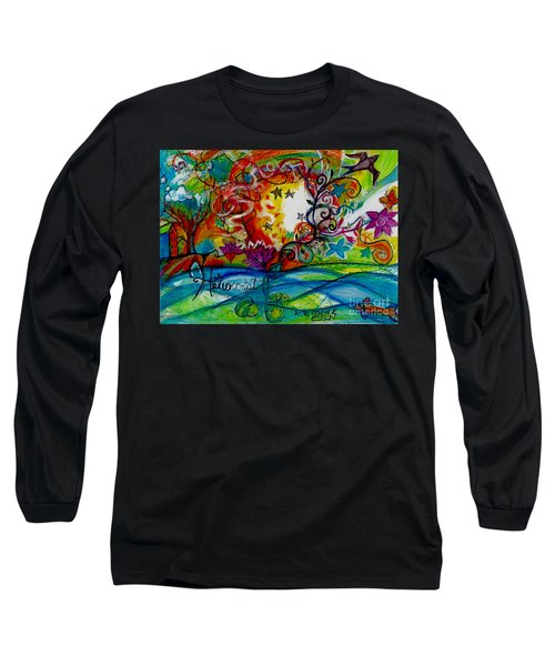 Long Sleeve T-Shirt featuring the painting Helios And Ophelia  by Genevieve Esson