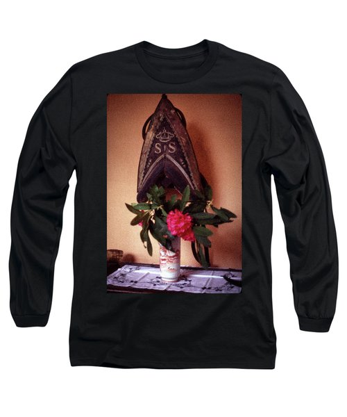 Helmet And Flower Long Sleeve T-Shirt