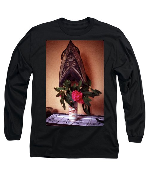 Helmet And Flower Long Sleeve T-Shirt