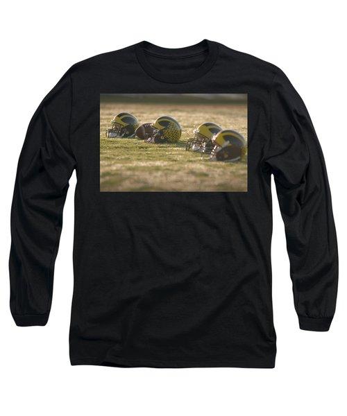 Helmets In Golden Dawn Sunlight Long Sleeve T-Shirt