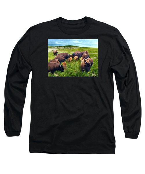 Herd Hierarchy Long Sleeve T-Shirt by Ric Darrell