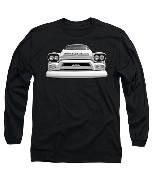 Here Comes The Sun - Gmc 100 Pickup 1958 Black And White Long Sleeve T-Shirt