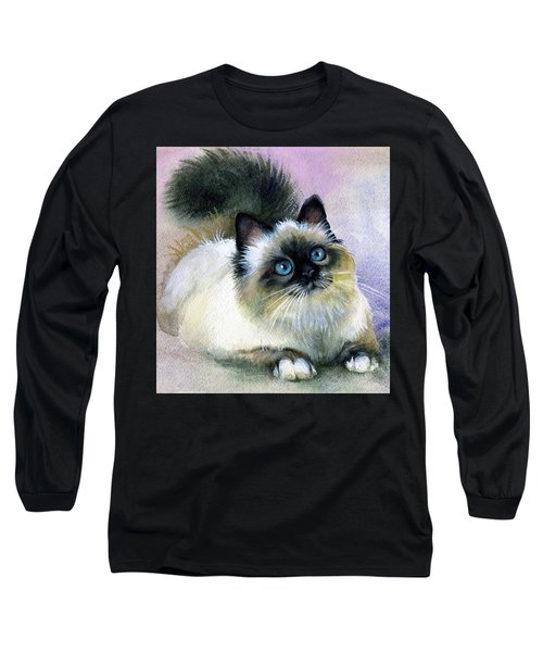 Here Kitty Long Sleeve T-Shirt by Karen Showell