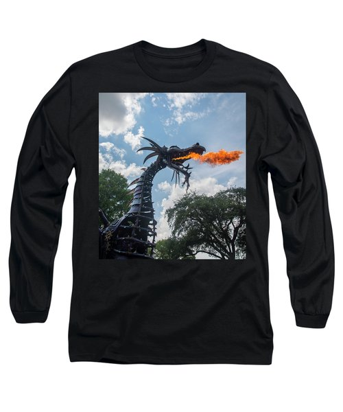 Here There Be Dragons Long Sleeve T-Shirt