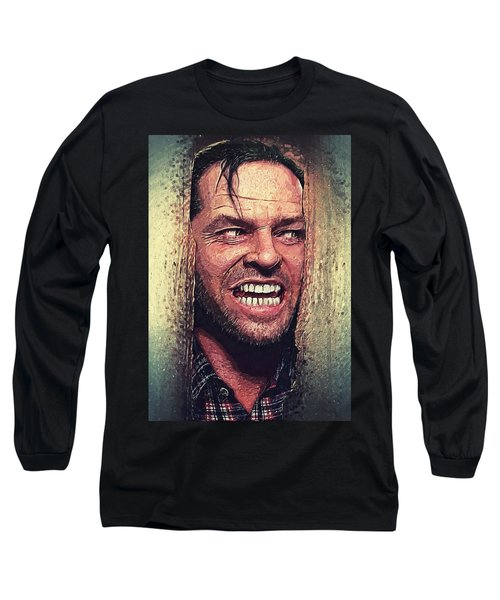 Here's Johnny - The Shining  Long Sleeve T-Shirt by Taylan Apukovska