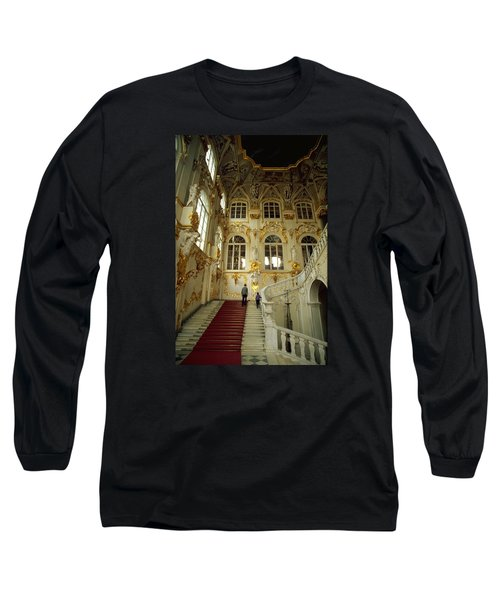Long Sleeve T-Shirt featuring the photograph Hermitage Staircase by Travel Pics