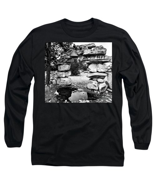 Hermit's Rest, Black And White Long Sleeve T-Shirt