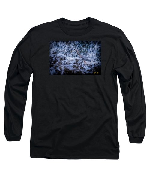 Heron Falls Long Sleeve T-Shirt by Rikk Flohr