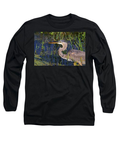Heron Macro Long Sleeve T-Shirt