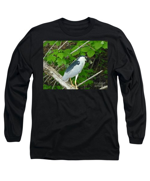 Heron With Dinner Long Sleeve T-Shirt