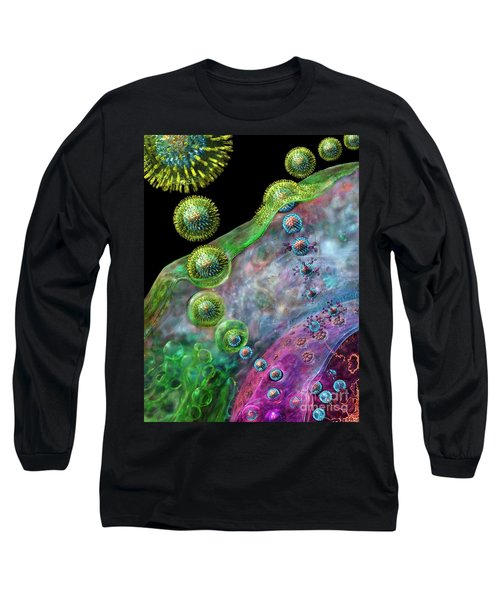 Herpes Virus Replication Long Sleeve T-Shirt by Russell Kightley