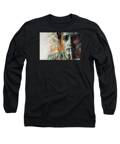Hey Mr Tambourine Man @ Full Composition Long Sleeve T-Shirt by Paul Lovering