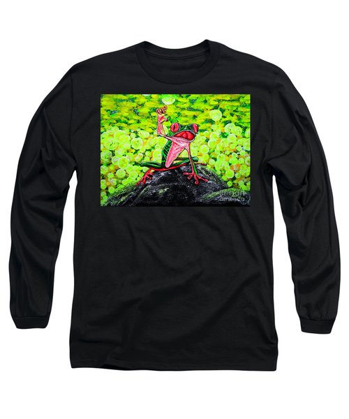 Long Sleeve T-Shirt featuring the painting Hey  People by Viktor Lazarev