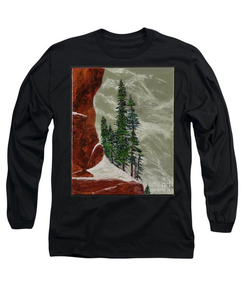 Hi Mountain Pine Trees Long Sleeve T-Shirt