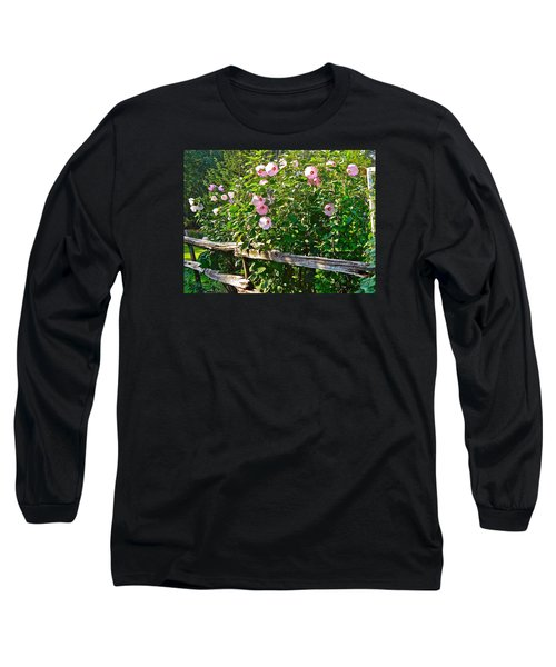 Long Sleeve T-Shirt featuring the photograph Hibiscus Hedge by Randy Rosenberger