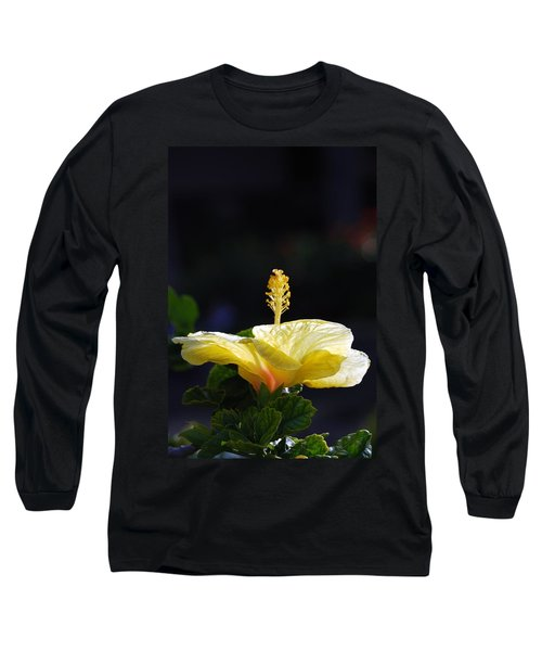 Long Sleeve T-Shirt featuring the photograph Hibiscus Morning by Debbie Karnes