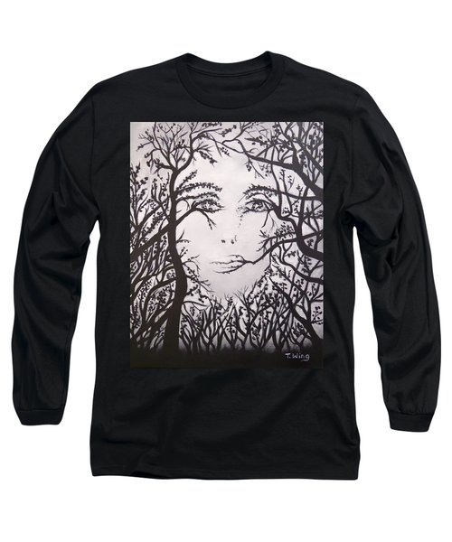 Hidden Face Long Sleeve T-Shirt by Teresa Wing