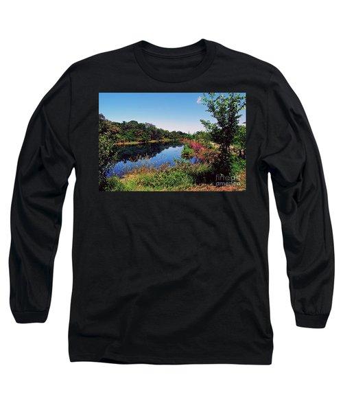 Long Sleeve T-Shirt featuring the photograph Hidden Lake by Gary Wonning