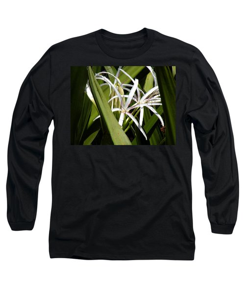Long Sleeve T-Shirt featuring the photograph Hidden Swamp Lily by Rosalie Scanlon