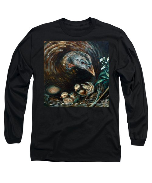 Long Sleeve T-Shirt featuring the painting Hidden Treasures by Suzanne McKee