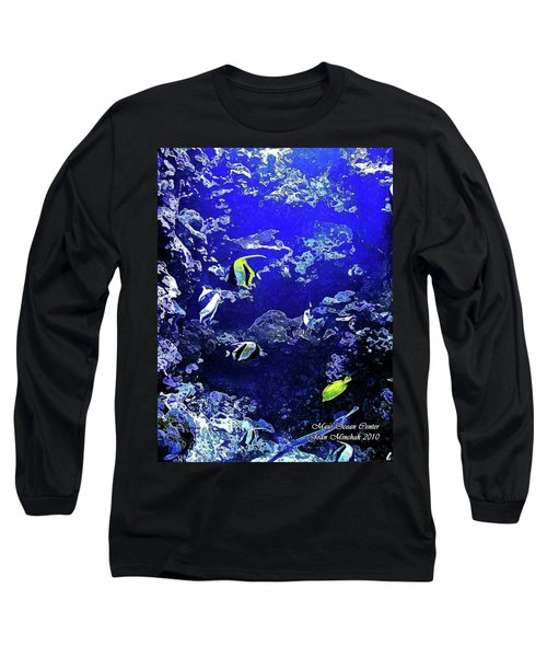 Hiding Fish Long Sleeve T-Shirt by Joan  Minchak