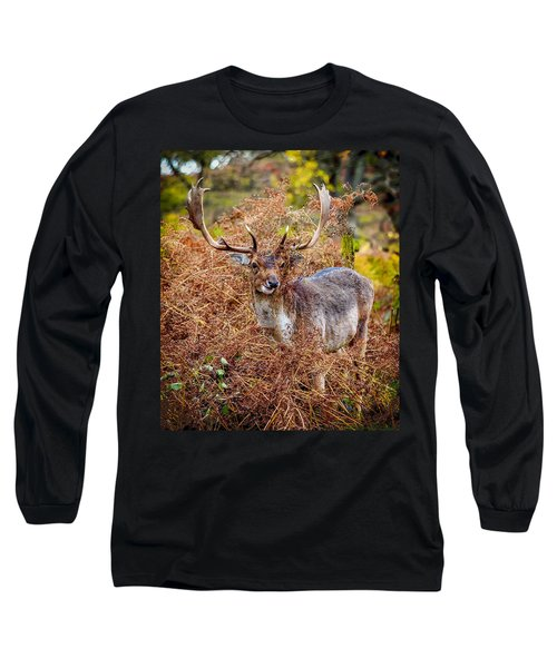 Long Sleeve T-Shirt featuring the photograph Hiding In The Bracken by Nick Bywater