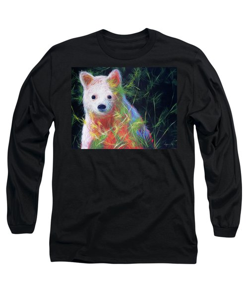 Long Sleeve T-Shirt featuring the painting Hiding In The Vines by Angela Treat Lyon