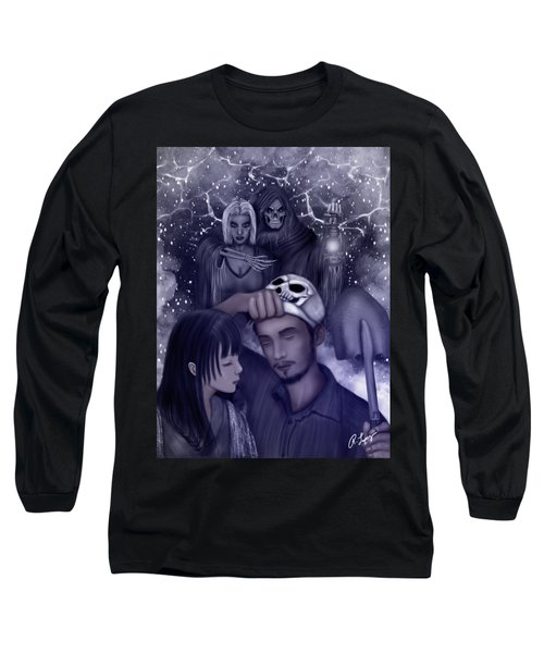 Long Sleeve T-Shirt featuring the painting Hiding Secrets Fantasy Art by Raphael Lopez