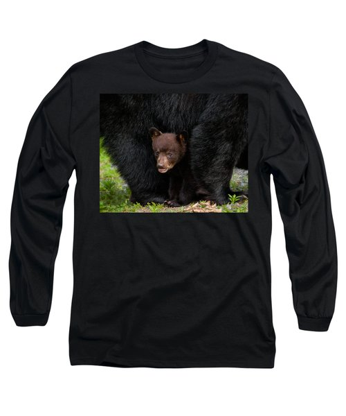 Hiding Under Mom Long Sleeve T-Shirt