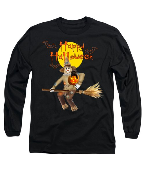 High Flying Scarecrow Long Sleeve T-Shirt by Glenn Holbrook