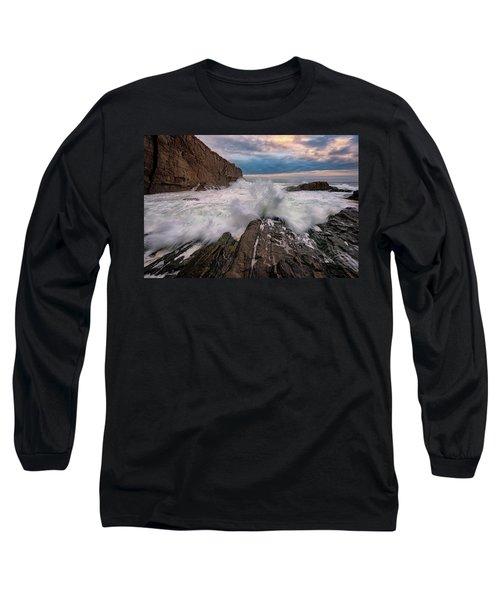 Long Sleeve T-Shirt featuring the photograph High Tide At Bald Head Cliff by Rick Berk