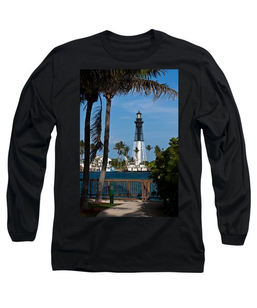 Hillsboro Inlet Lighthouse And Park Long Sleeve T-Shirt