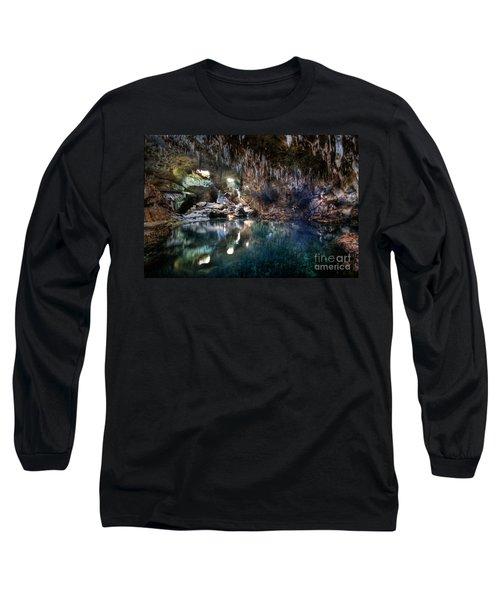 Long Sleeve T-Shirt featuring the photograph Hinagdanan Cave by Yhun Suarez