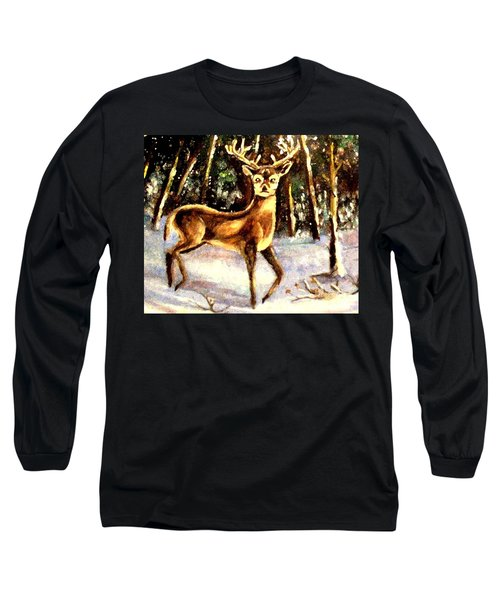 Long Sleeve T-Shirt featuring the painting Hinds Feet by Hazel Holland
