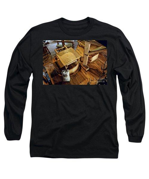 Long Sleeve T-Shirt featuring the digital art Historic Bale Mill by Jason Abando