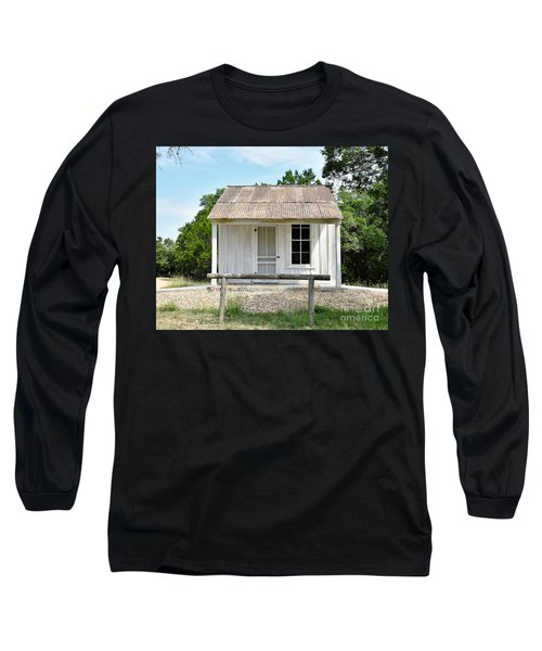 Long Sleeve T-Shirt featuring the photograph Historic Clint's Cabin by Ray Shrewsberry